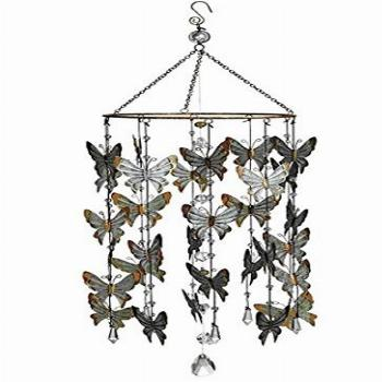 Butterfly Mobile Wind Chime Home Garden Decor 27.5 Inch