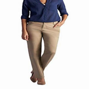 LEE Womens Relaxed Fit All Day Straight Leg Pant, Flax, 14