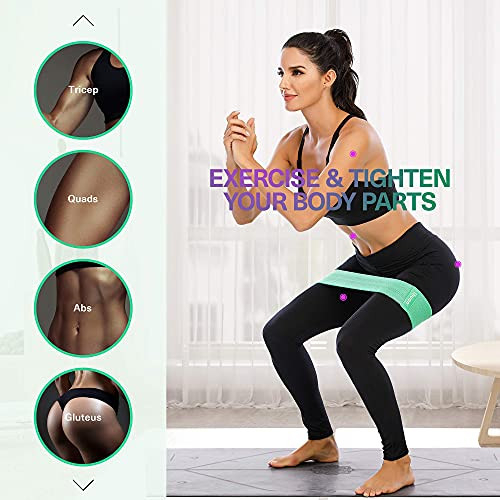 ihuan Resistance Bands for Legs and Butt, 3 Levels Exercise